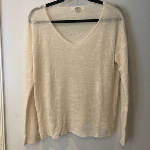 Lightweight white sweater